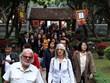 数千名国内外游客前往文庙-国子监参观并参加民间游戏(组图)