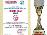 """友邦越南荣获""""2015年度越南最值得信赖优秀品牌""""称号"""