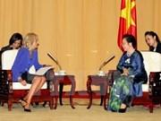越南国家副主席阮氏缘会见美国副总统夫人吉尔·拜登