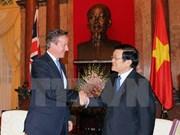 越南国家主席张晋创会见英国首相卡梅伦