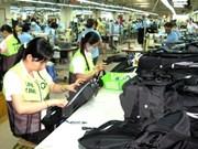 2015年上半年越南对法国的出口额达13.6亿美元
