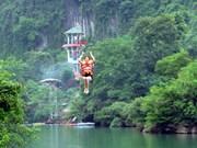 风芽格邦国家公园高空滑索创越南最长高空滑索纪录