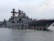 俄罗斯海军舰队访问越南岘港市
