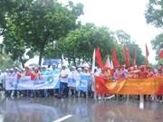 """""""越南品牌的骄傲""""游行活动在河内举行"""