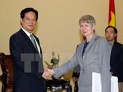 越南政府总理阮晋勇会见德国驻越南大使忧特达•弗拉斯