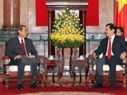 越南国家主席张晋创会见老挝国家主席办公室主任