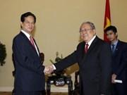 越南政府总理阮晋勇会见缅甸央行行长