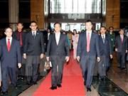 越南政府总理阮晋勇一行抵达吉隆坡开始对马来西亚进行正式访问