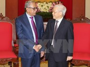 越共中央总书记阮富仲会见孟加拉国总统哈米德