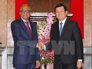 越南国家主席张晋创与孟加拉国总统哈米德举行会谈