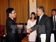 越南政府副总理兼外长会见巴基斯坦外交部副部长