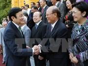 国家主席张晋创会见外交部历代模范干部代表团