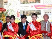 张晋创主席出席胡志明市心脏病专科医院技术区落成典礼