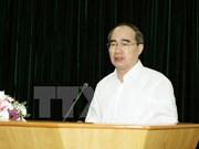 越南祖国阵线中央委员会主席阮善仁会见越南驻外大使和总领事