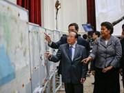 英国首相卡梅伦愿把该国书馆保存的三张地图借给柬埔寨