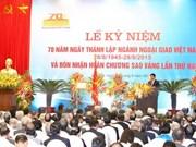 老挝和俄罗斯友人致电范平明副总理庆祝外交部门成立70周年