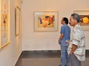2015年首都河内美术展吸引众多参观者
