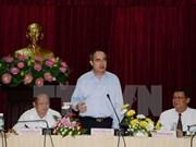 阮善仁同志与胡志明市人民委员会举行工作会议