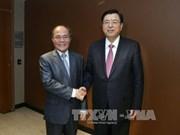 越南国会主席阮生雄会见中国全国人大常委会委员长张德江
