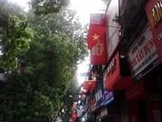 河内市民对迎接越南第70个国庆日充满着欢乐与自豪感