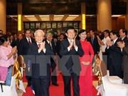 越南党、国家领导人举行国庆70周年招待会