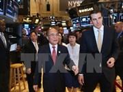 越南国会主席阮生雄走访纽约证券交易所和世界贸易中心