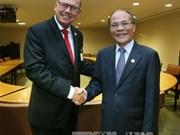 越南国会主席阮生雄会见瑞典议会议长和第69届联大主席