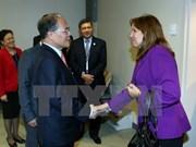 阮生雄主席会见古巴国会副主席马查杜和美国企业代表