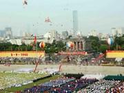 澳大利亚记者眼下多姿多彩、五彩缤纷的越南国庆纪念仪式