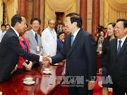 越南国家主席张晋创会见参加第七届亚太地区声援古巴大会代表团