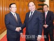 越南政府副总理阮春福会见老挝计划和投资部代表团