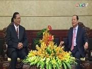 胡志明市领导人会见老挝占巴塞省高级代表团