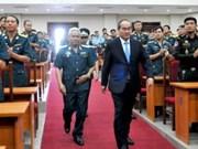 阮善仁同志出席防空空军学院开学典礼