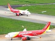 越捷航空公司航班遭受第三号台风影响
