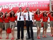 越捷航空公司出售50万张2016年春节的零价机票