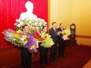 """老挝安全部驻越南代表机构干部荣获越南""""维护祖国安全""""纪念章"""