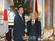 越共中央总书记阮富仲会见日本共产党中央委员会委员长志位和夫