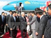 越共中央总书记阮富仲会见日本一些大型经济集团领导