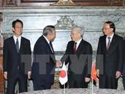 越共中央总书记阮富仲会见日本众议院议长大岛理森