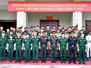 印度少年军代表团与越南军事科学学院举行交流活动