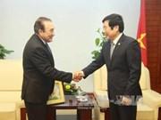 越南通信传媒部部长阮北山会见墨西哥国家通讯社社长