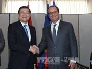 越南国家主席张晋创会见法国总统弗朗索瓦·奥朗德