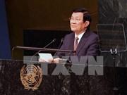国家主席张晋创访问美国联合通讯社