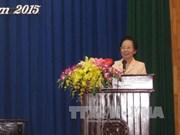 越南国家副主席阮氏缘接触河南省选民