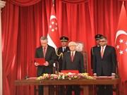 新加坡政府新内阁宣誓就职