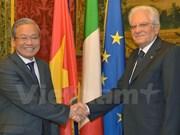 将越意两国合作关系推上新台阶