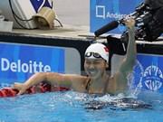 第八届亚洲分龄组游泳锦标赛:越南游泳名将阮氏映圆摘下三枚金牌