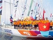 越南岘港队结束2015-2016年克利伯环游世界帆船赛的第一站比赛