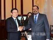 越南国家主席张晋创接见科威特驻越大使
