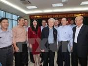越共中央总书记阮富仲接触河内市选民